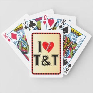 I Love Trinidad & Tobago Bicycle Playing Cards