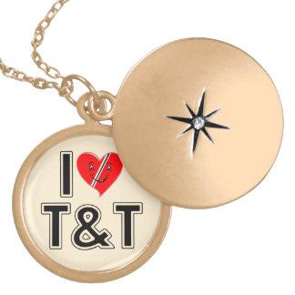 I Love Trinidad & Tobago Round Locket Necklace