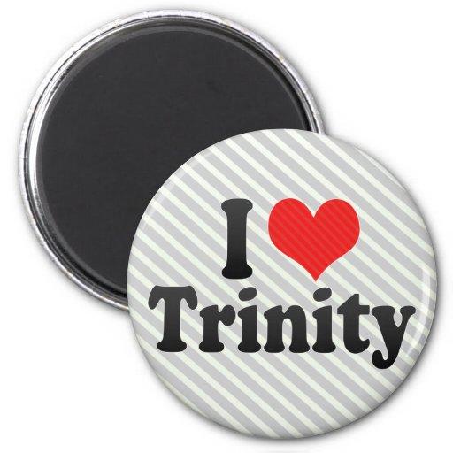I Love Trinity 2 Inch Round Magnet