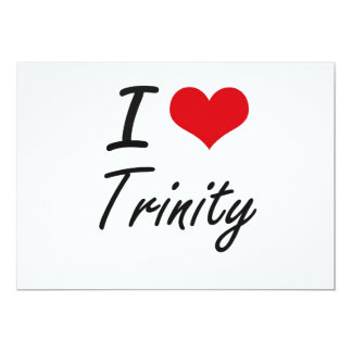 I Love Trinity artistic design 5x7 Paper Invitation Card