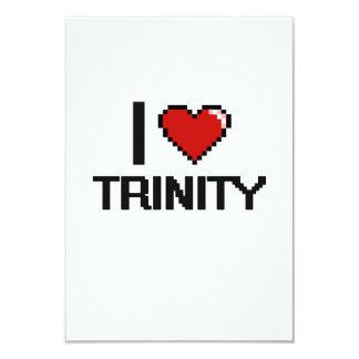 I Love Trinity Digital Retro Design 3.5x5 Paper Invitation Card