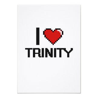 I Love Trinity Digital Retro Design 5x7 Paper Invitation Card