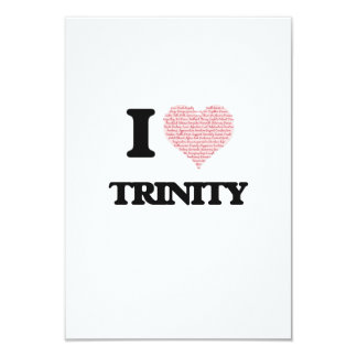 I love Trinity (heart made from words) design 3.5x5 Paper Invitation Card