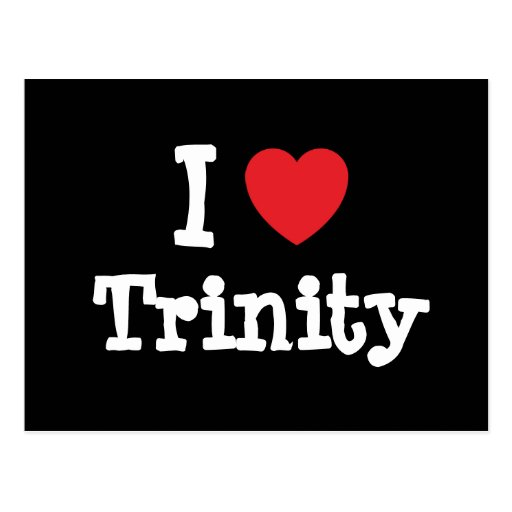 I love Trinity heart T-Shirt Postcard