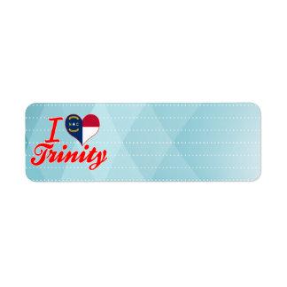 I Love Trinity, North Carolina Return Address Label
