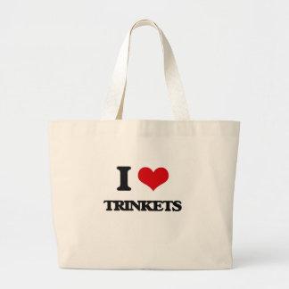 I love Trinkets Jumbo Tote Bag