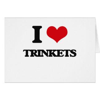 I love Trinkets Greeting Card