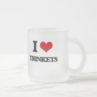 I love Trinkets 10 Oz Frosted Glass Coffee Mug