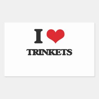 I love Trinkets Rectangular Sticker