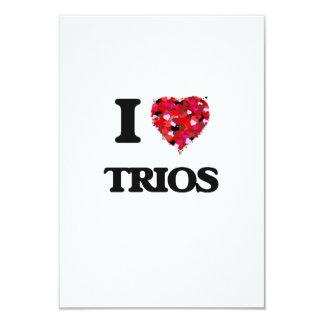 I love Trios 3.5x5 Paper Invitation Card