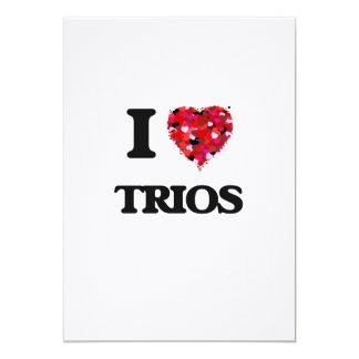 I love Trios 5x7 Paper Invitation Card