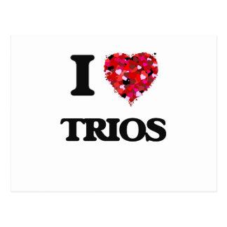 I love Trios Postcard