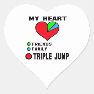 I love Triple Jump. Heart Sticker