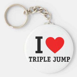 I Love Triple Jump Keychain