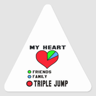 I love Triple Jump. Triangle Sticker