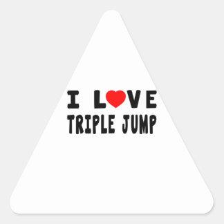 I Love Triple jump Triangle Sticker