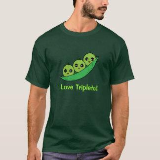 I Love Triplets: Three Peas in a Pod T-Shirt
