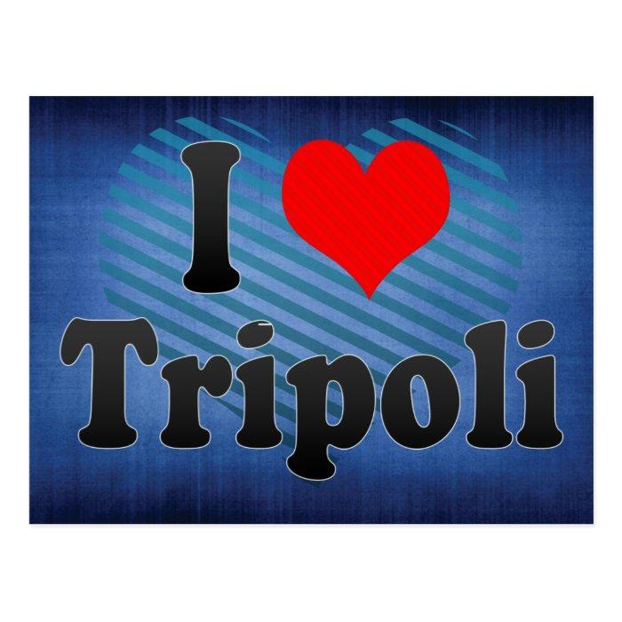 I Love Tripoli, Libya Postcard