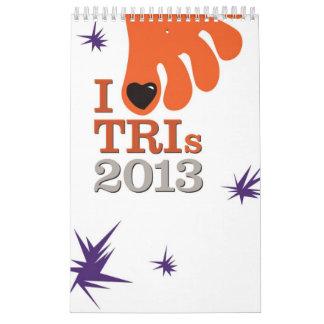 I Love Tris 2013 - Calendar for Triathletes - Vert