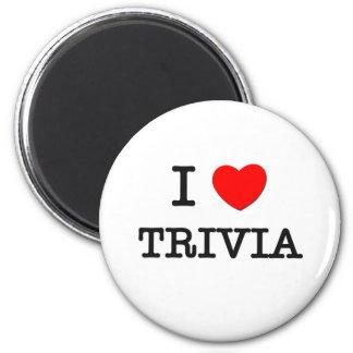 I Love Trivia 2 Inch Round Magnet