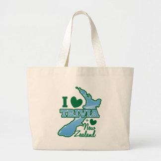 I love TRIVIA an I Love New Zealand! Canvas Bags