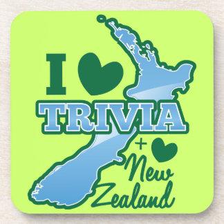 I love TRIVIA an I Love New Zealand! Drink Coaster