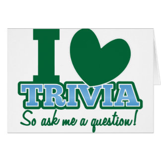 I LOVE Trivia so ask me a Question Cards