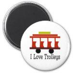I Love Trolleys Fridge Magnet