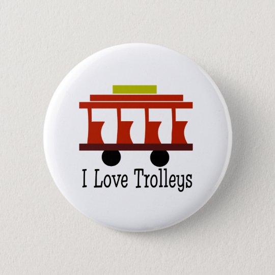 I Love Trolleys Pinback Button