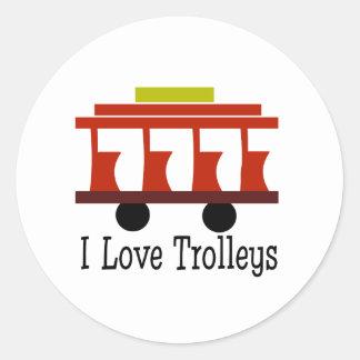 I Love Trolleys Stickers