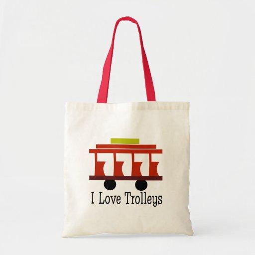 I Love Trolleys Tote Bag