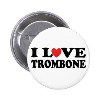I Love Trombone Button