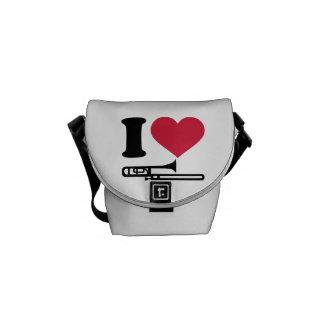 I love Trombone Messenger Bag