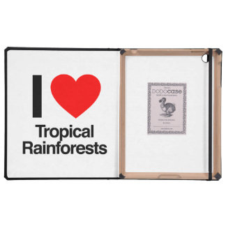 i love tropical rainforests case for iPad