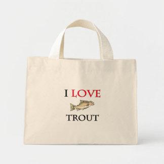 I Love Trout Mini Tote Bag