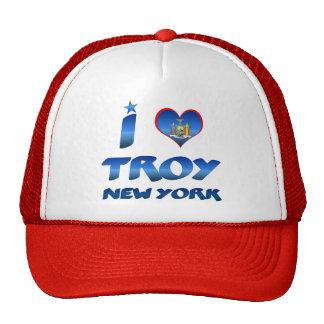 I love Troy, New York Mesh Hats