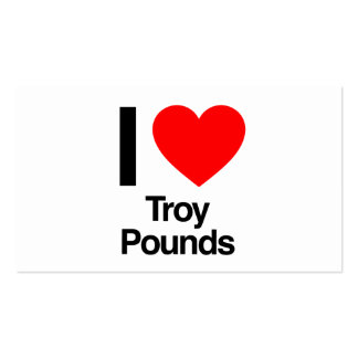 i love troy pounds Double-Sided standard business cards (Pack of 100)