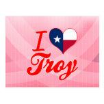I Love Troy, Texas Postcard