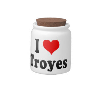 I Love Troyes, France Candy Jars