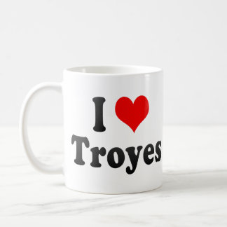 I Love Troyes, France Coffee Mugs