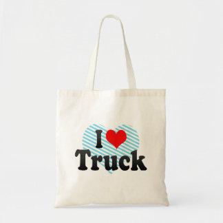 I love Truck Budget Tote Bag