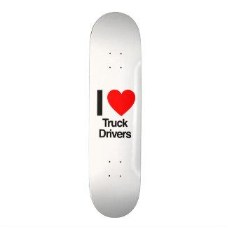 i love truck drivers custom skate board