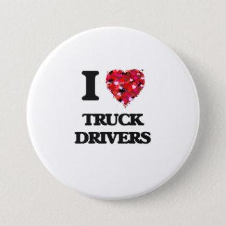 I love Truck Drivers Pinback Button