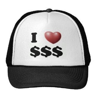I Love $$$ Trucker Hat