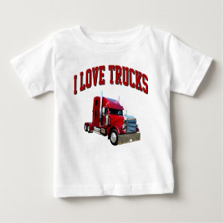 I Love Trucks Baby T-Shirt