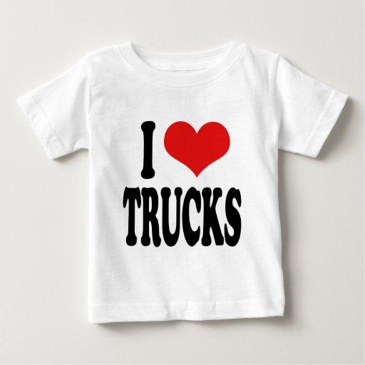 I Love Trucks Baby T-Shirt