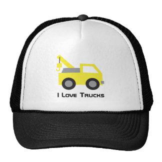 I love Trucks, Cute Yellow Vehicle for Trucker Hat