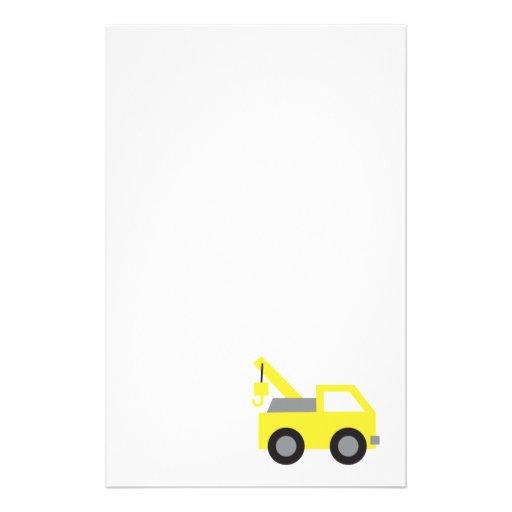 I love Trucks, Cute Yellow Vehicle for kids Stationery Design