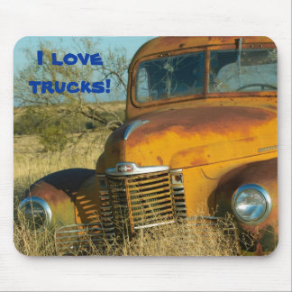 I love trucks! mouse mat