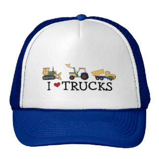 I Love Trucks T-shirts and Gifts Mesh Hats